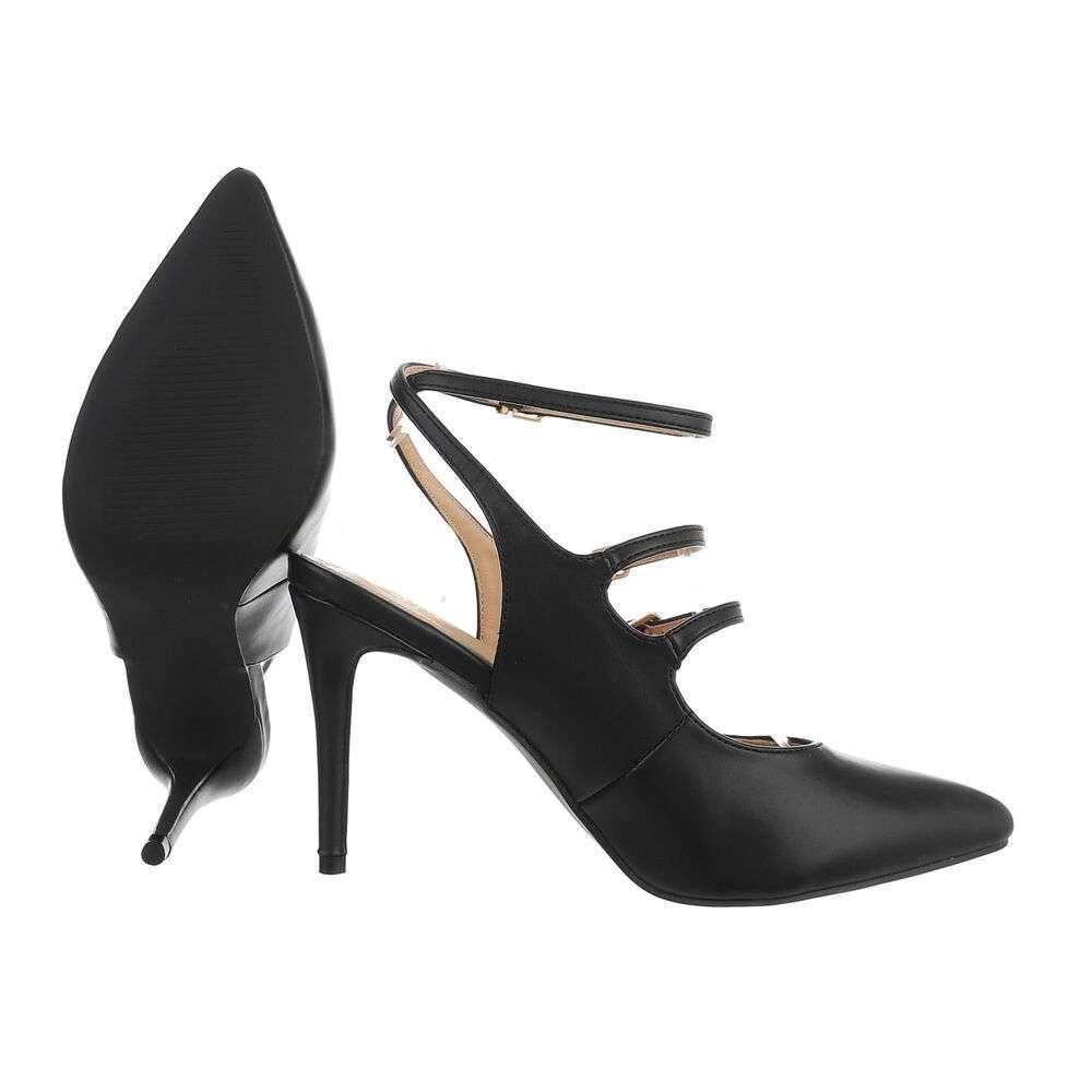 Pantofi cu toc înalt pentru femei - negru - image 2