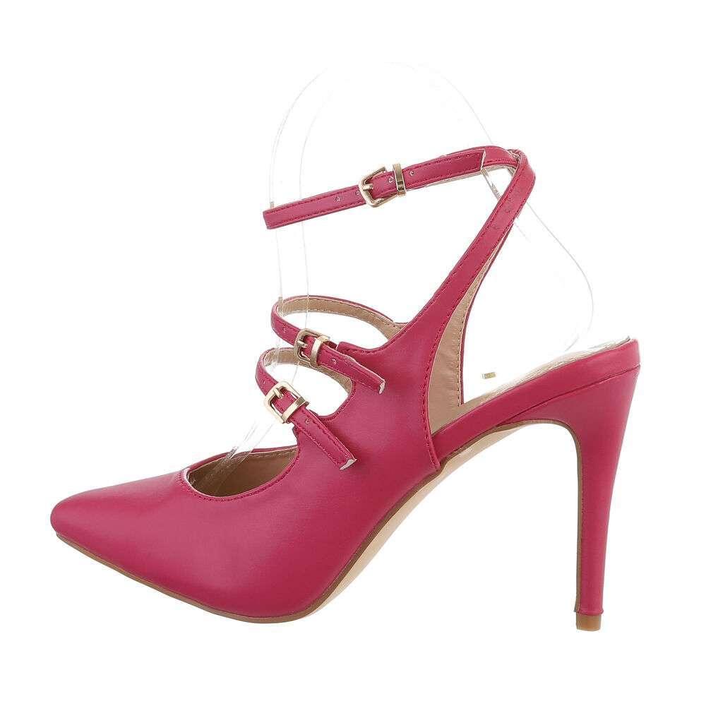 Pantofi cu toc înalt pentru femei - fucsia