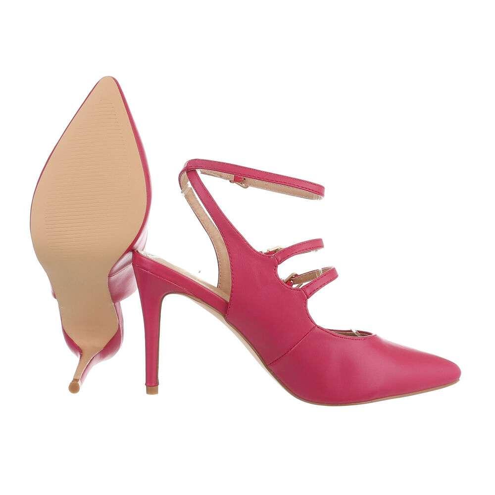 Pantofi cu toc înalt pentru femei - fucsia - image 2