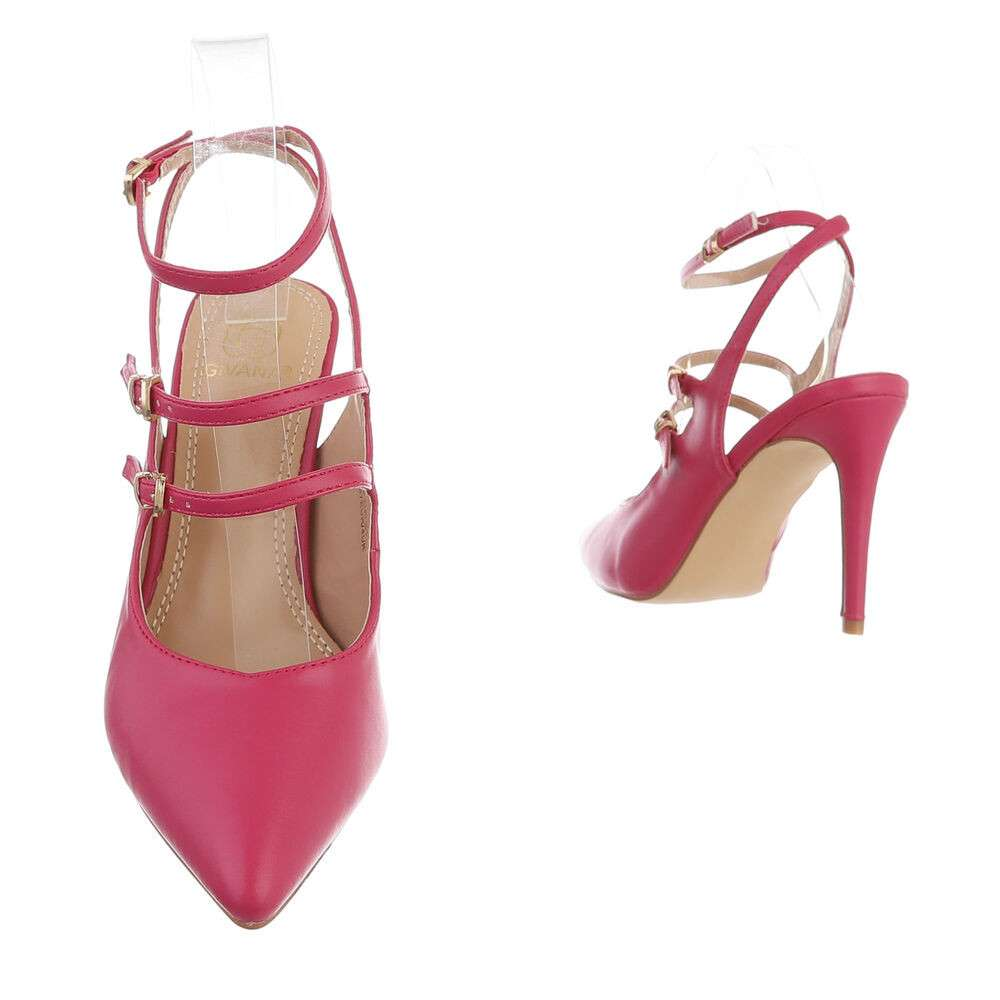 Pantofi cu toc înalt pentru femei - fucsia - image 3