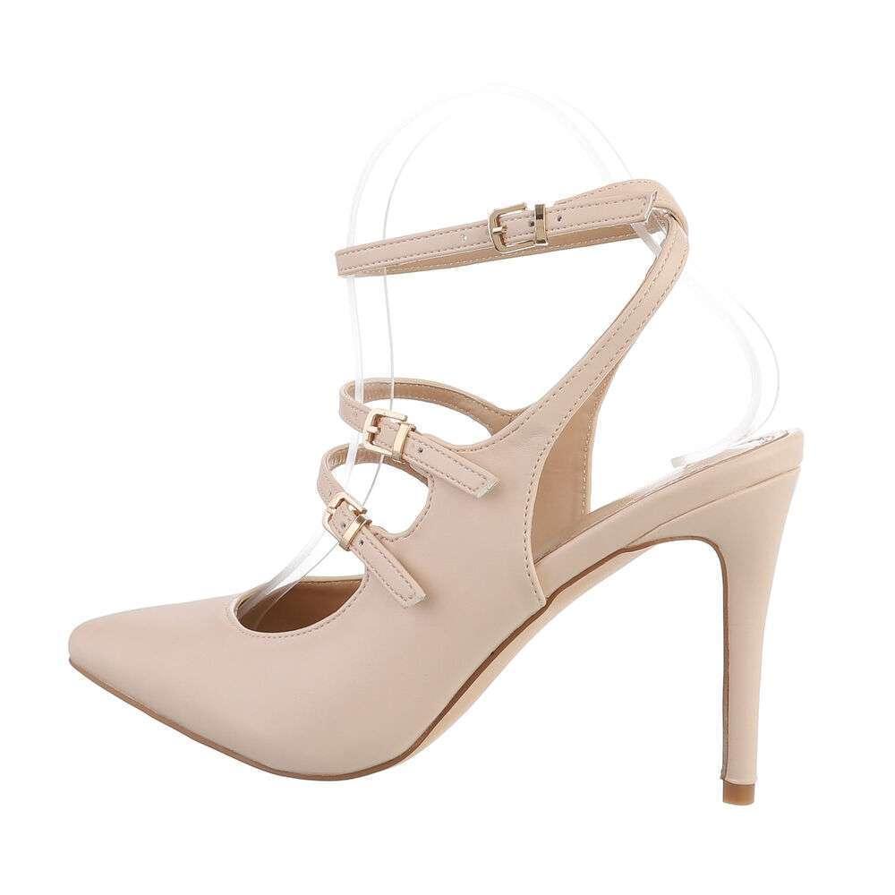 Pantofi cu toc înalt pentru femei - nud