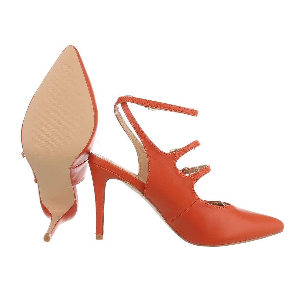 Pantofi cu toc înalt pentru femei - portocaliu - image 2