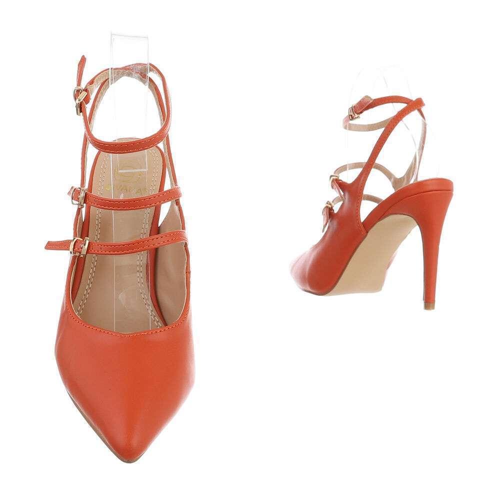 Pantofi cu toc înalt pentru femei - portocaliu - image 3