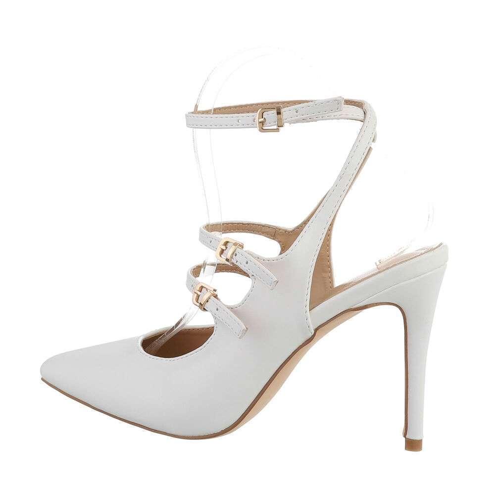 Pantofi cu toc înalt pentru femei - albă