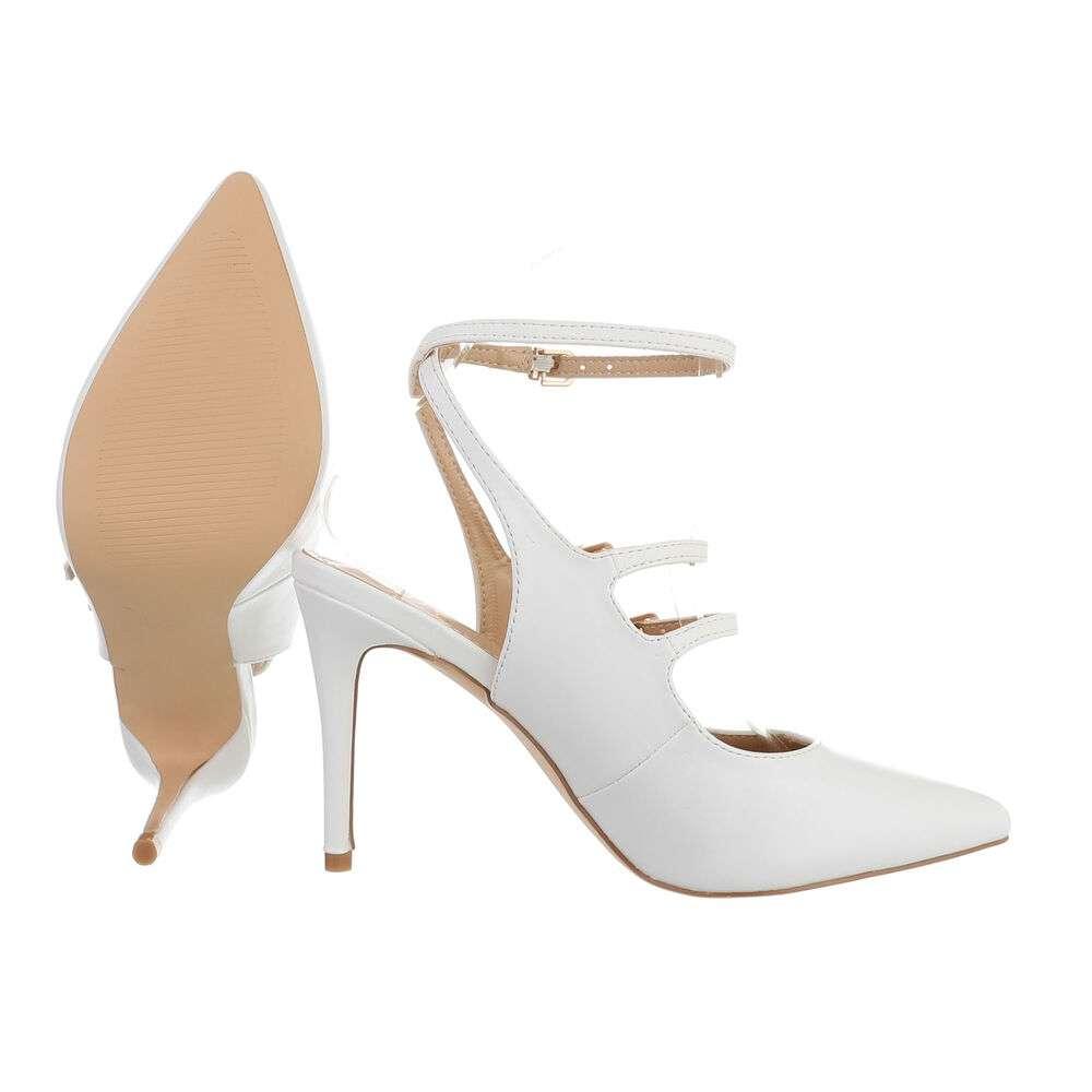 Pantofi cu toc înalt pentru femei - albă - image 2