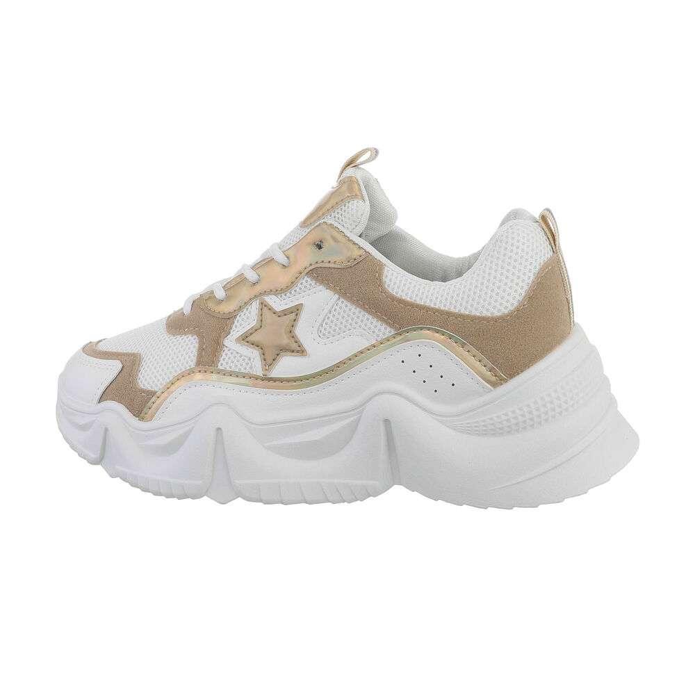 Pantofi sport pentru femei - bej - image 1