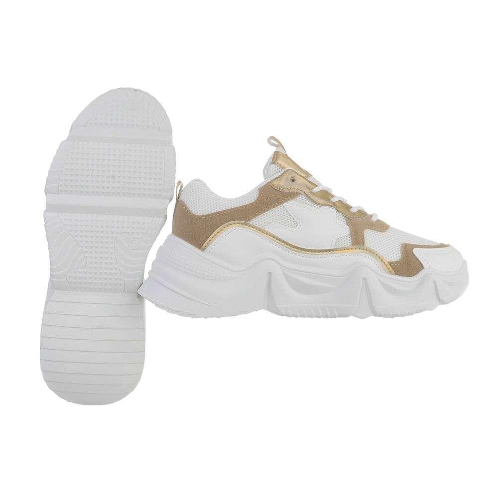 Pantofi sport pentru femei - bej - image 2
