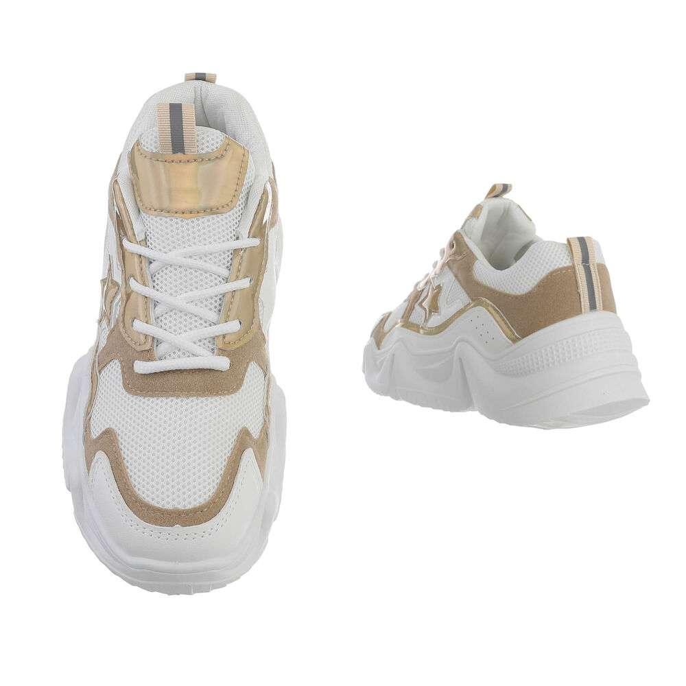 Pantofi sport pentru femei - bej - image 3