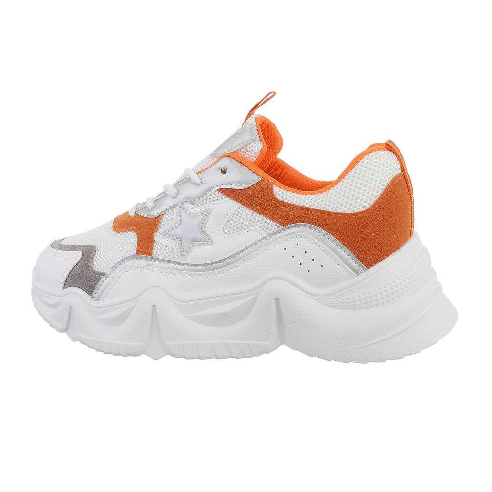 Pantofi sport de damă - portocaliu