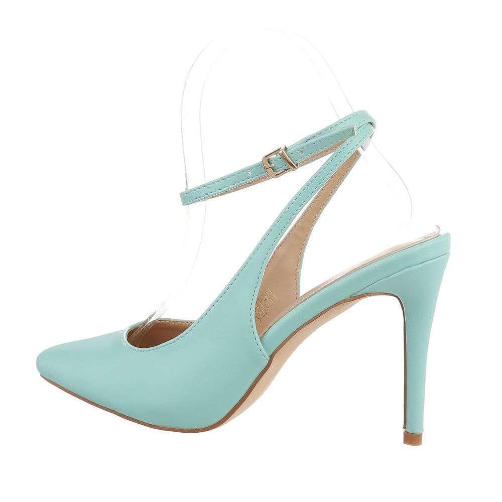 Pantofi cu toc înalt pentru femei - deschis  verde