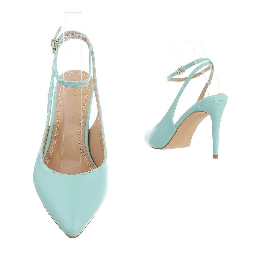 Pantofi cu toc înalt pentru femei - deschis  verde - image 3
