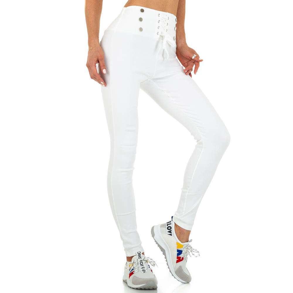 Pantaloni skinny pentru femei de Holala Fashion - albi