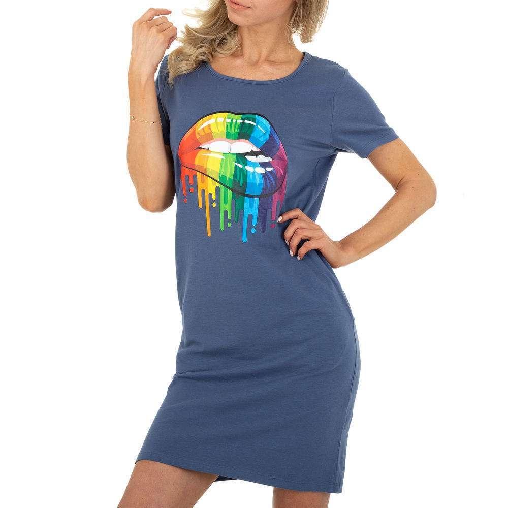Mini rochie de damă Glo storye - albastră