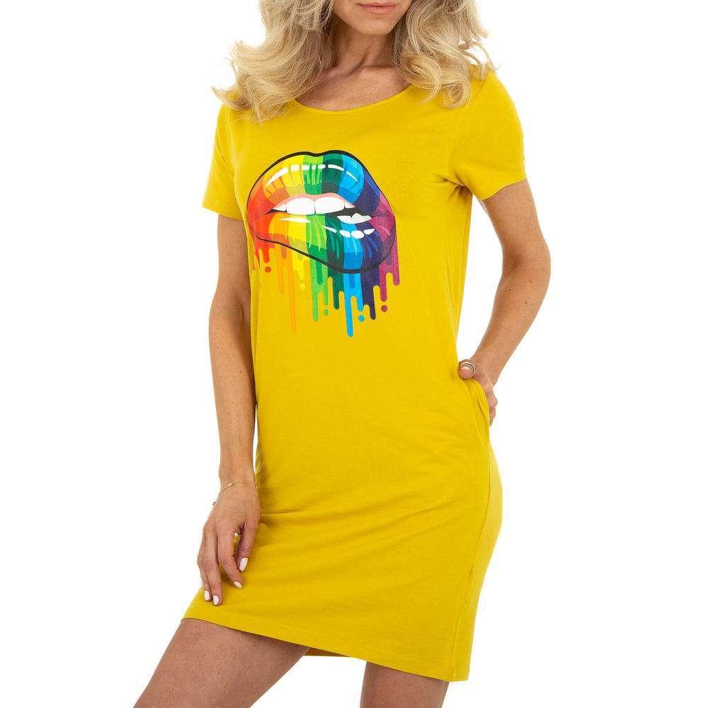Mini rochie de damă Glo Story - galbenă