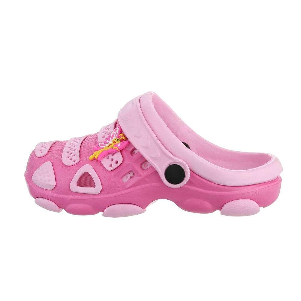 Șlapi de cauciuc pentru copii - roz