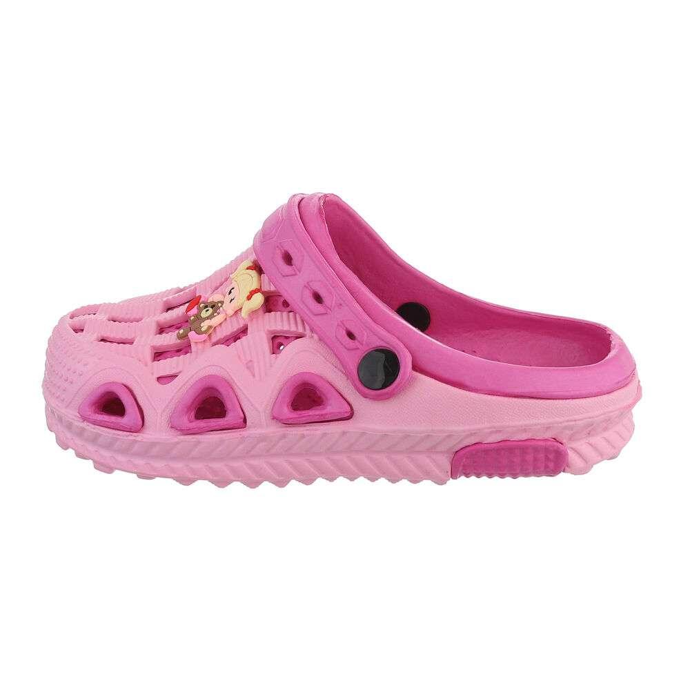 Șlapi de cauciuc pentru copii - fucsia roz