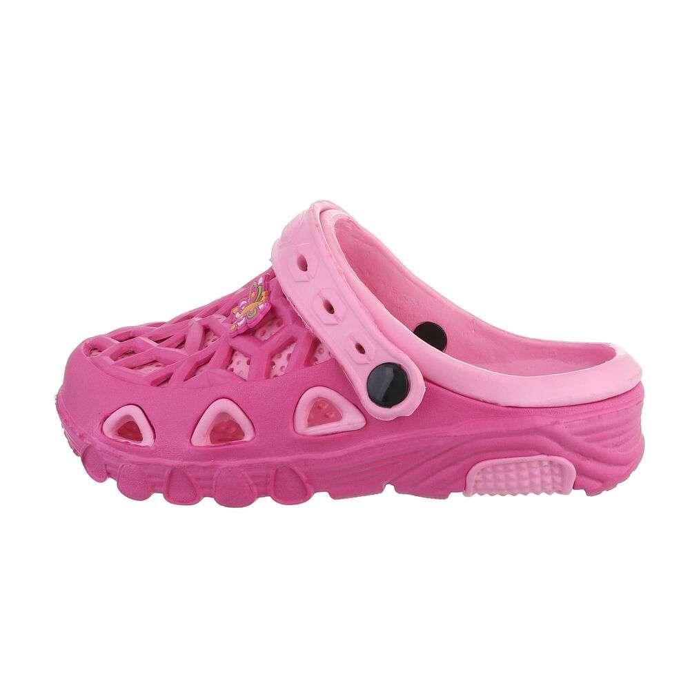 Șlapi de cauciuc pentru copii - roz fuziat