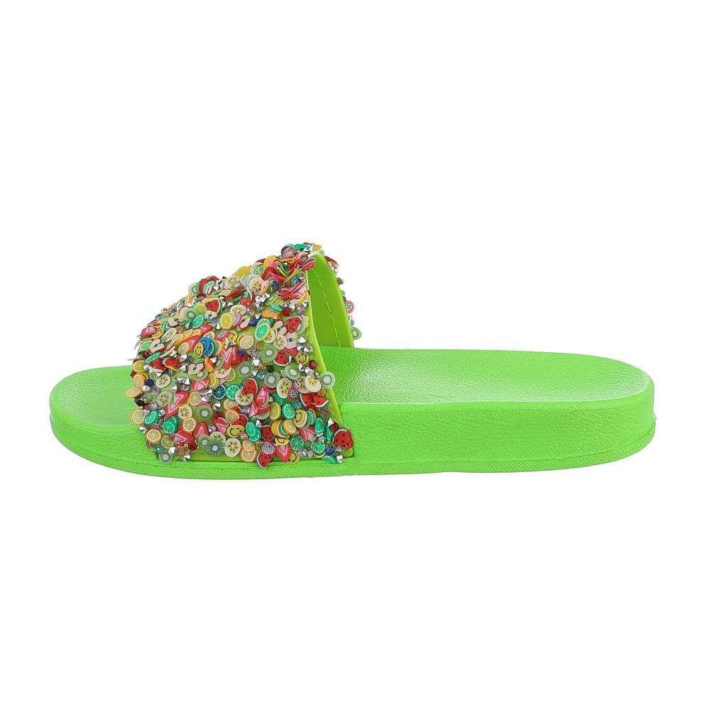 Șlapi de cauciuc pentru copii - verzi