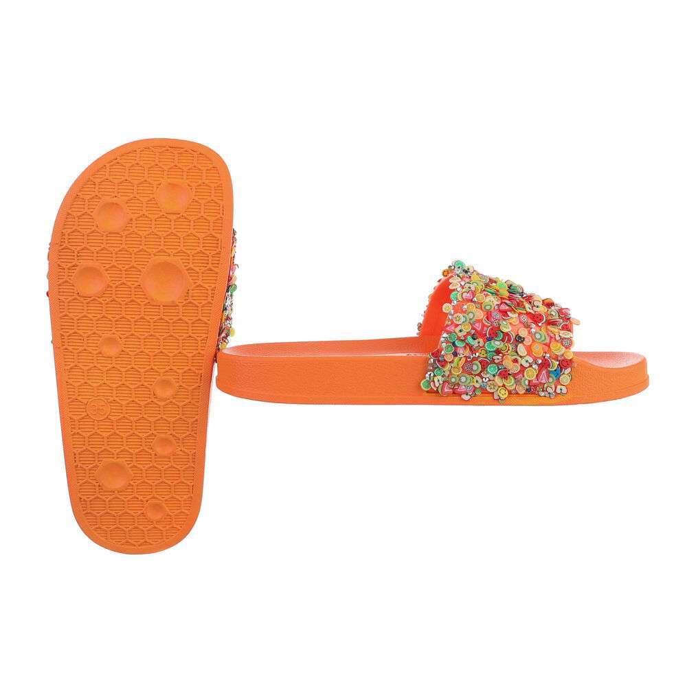 Șlapi din cauciuc pentru copii - portocaliu - image 2