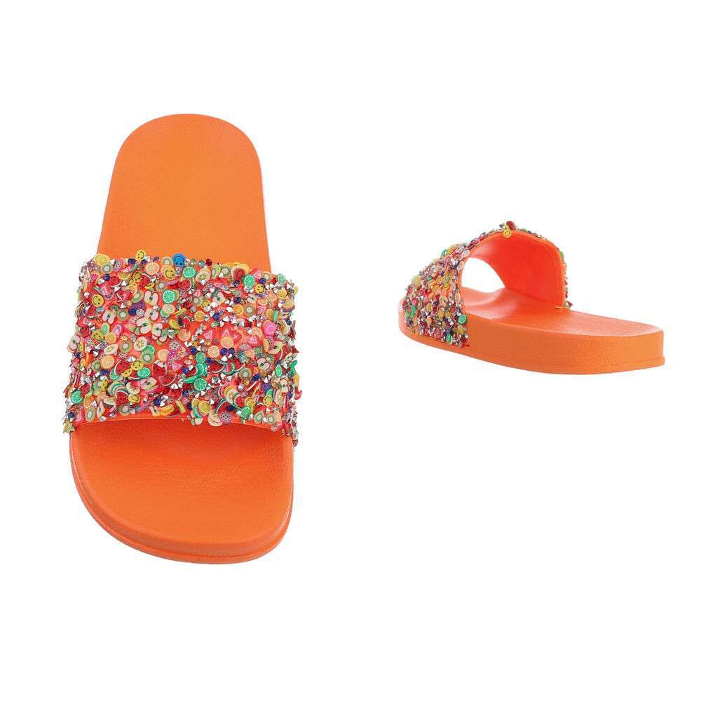 Șlapi din cauciuc pentru copii - portocaliu - image 3