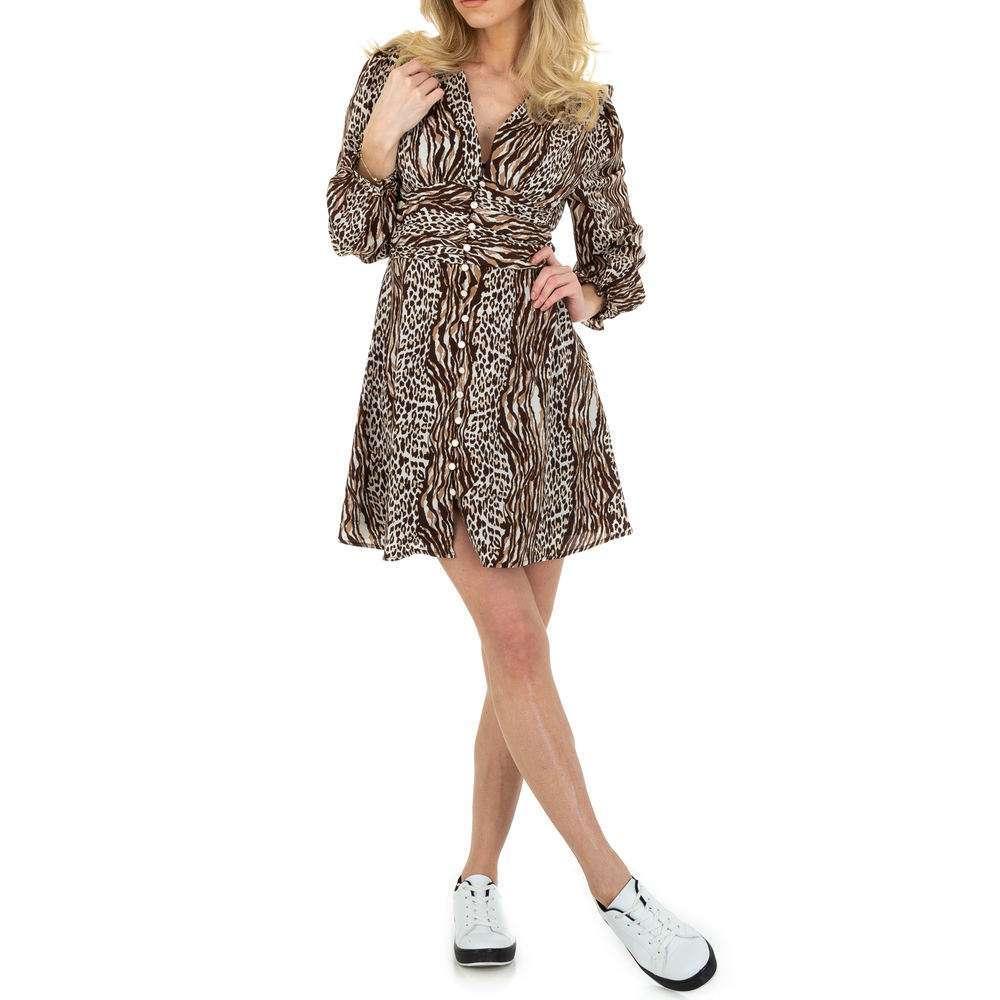 Rochie de bluză pentru femei de SHK Paris - maro