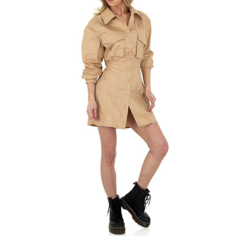 Женское мини-платье SHK Paris - бежевое