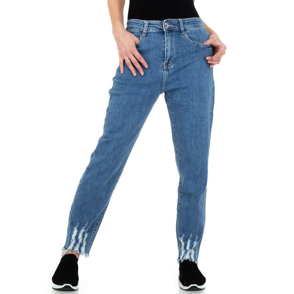 Blugi de damă pentru femei marca Mila Denim - albastru