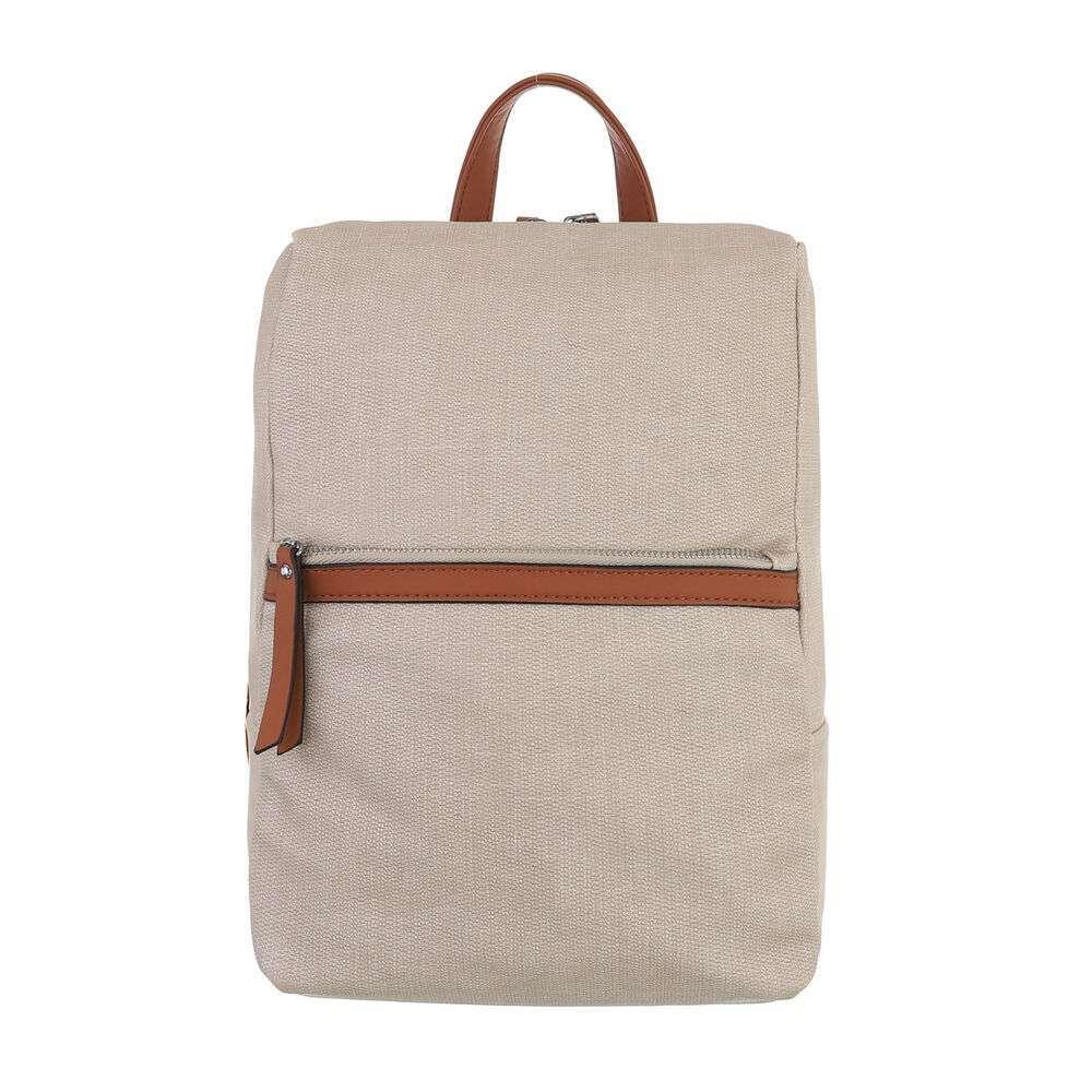 Рюкзак женский - бежевый
