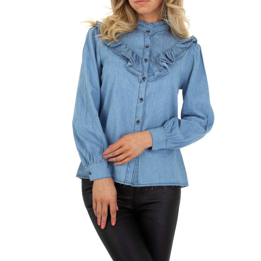Bluză de cămașă pentru femei de SHK Paris - albastră