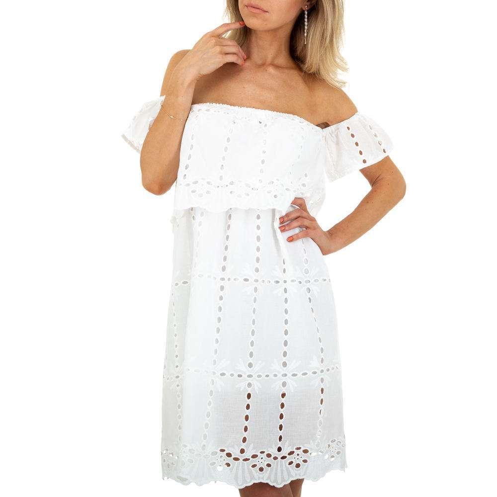 Rochie de vară pentru femei de SHK Paris - albă