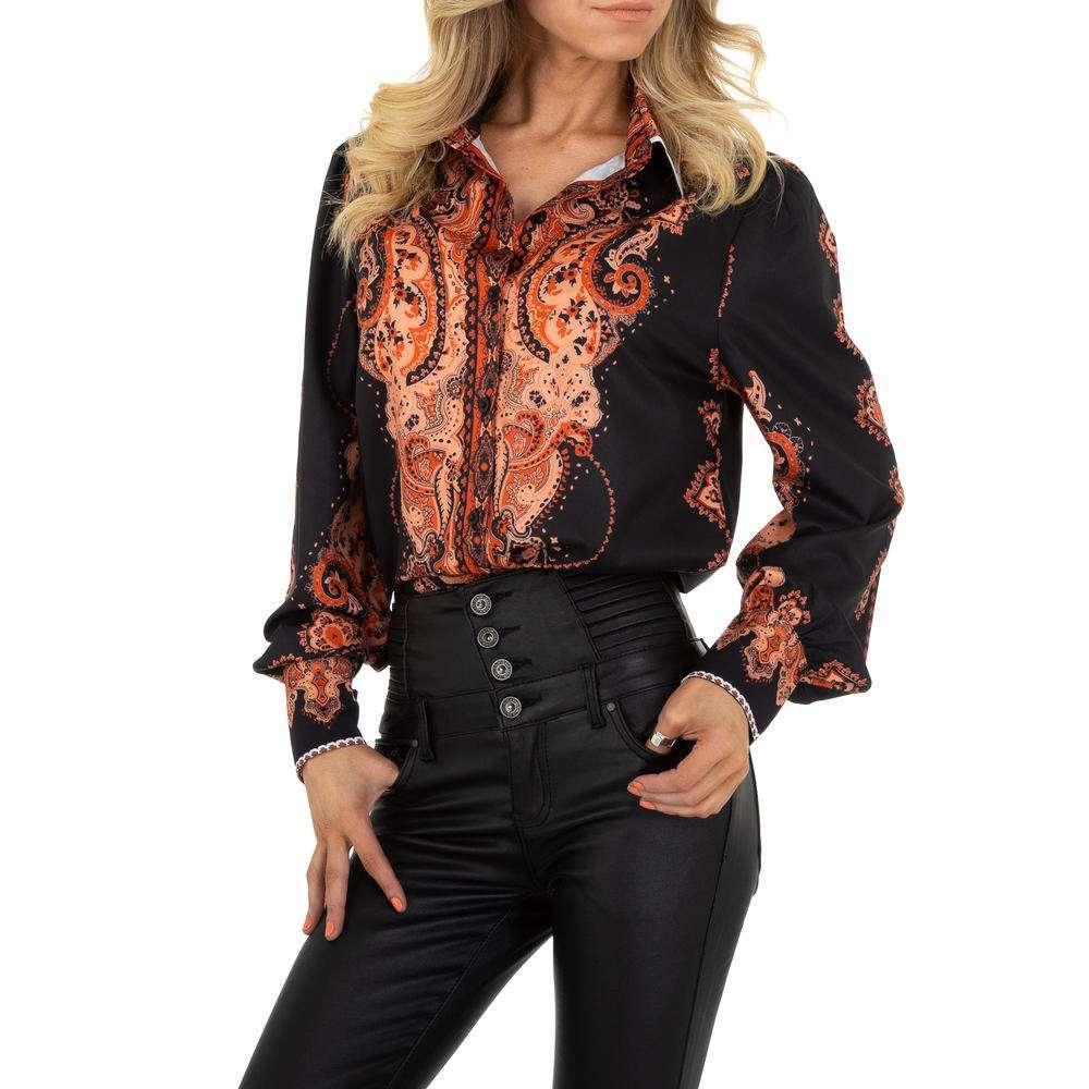 Bluză de cămașă pentru femei de SHK Paris - portocaliu