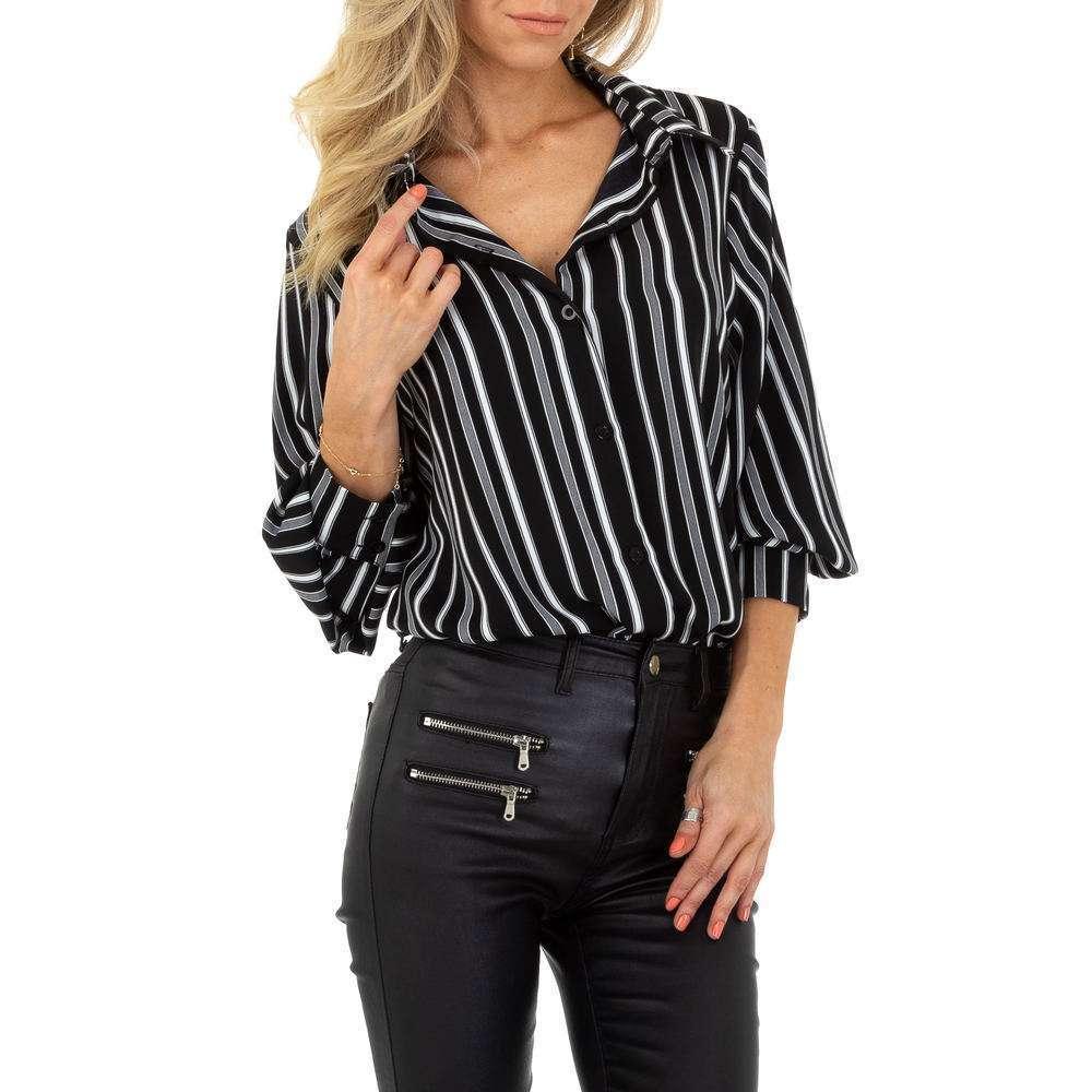 Bluză de cămașă pentru femei de SHK Paris - neagră