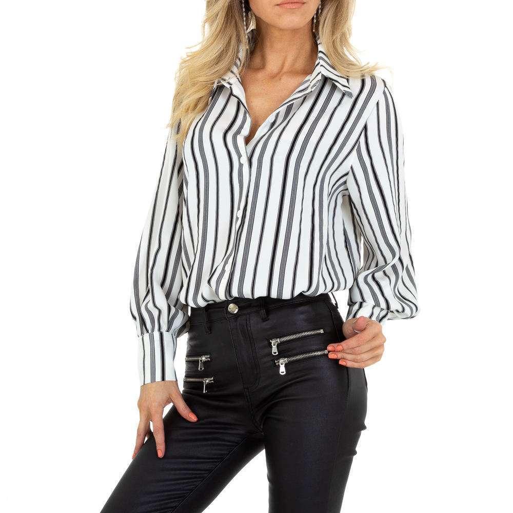 Bluză de cămașă pentru femei de SHK Paris - albă