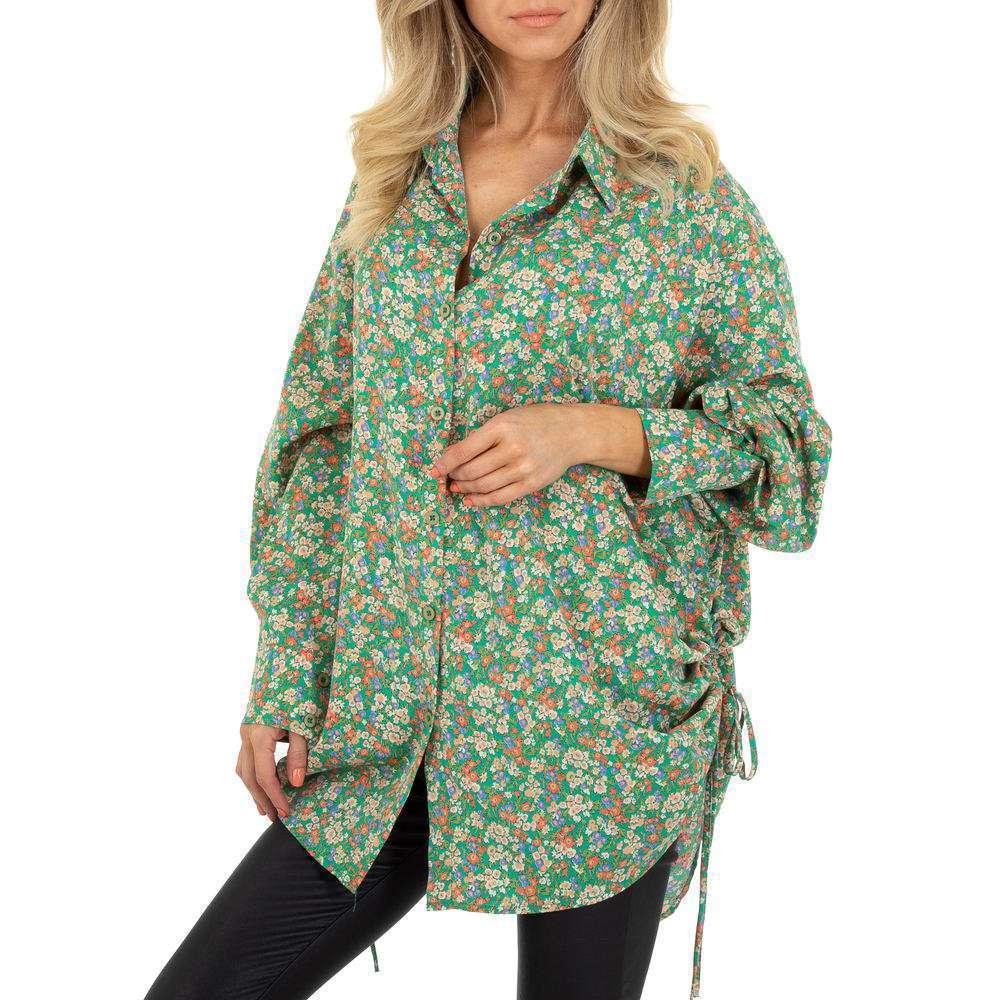 Bluză lungă pentru femei de SHK Paris - verde