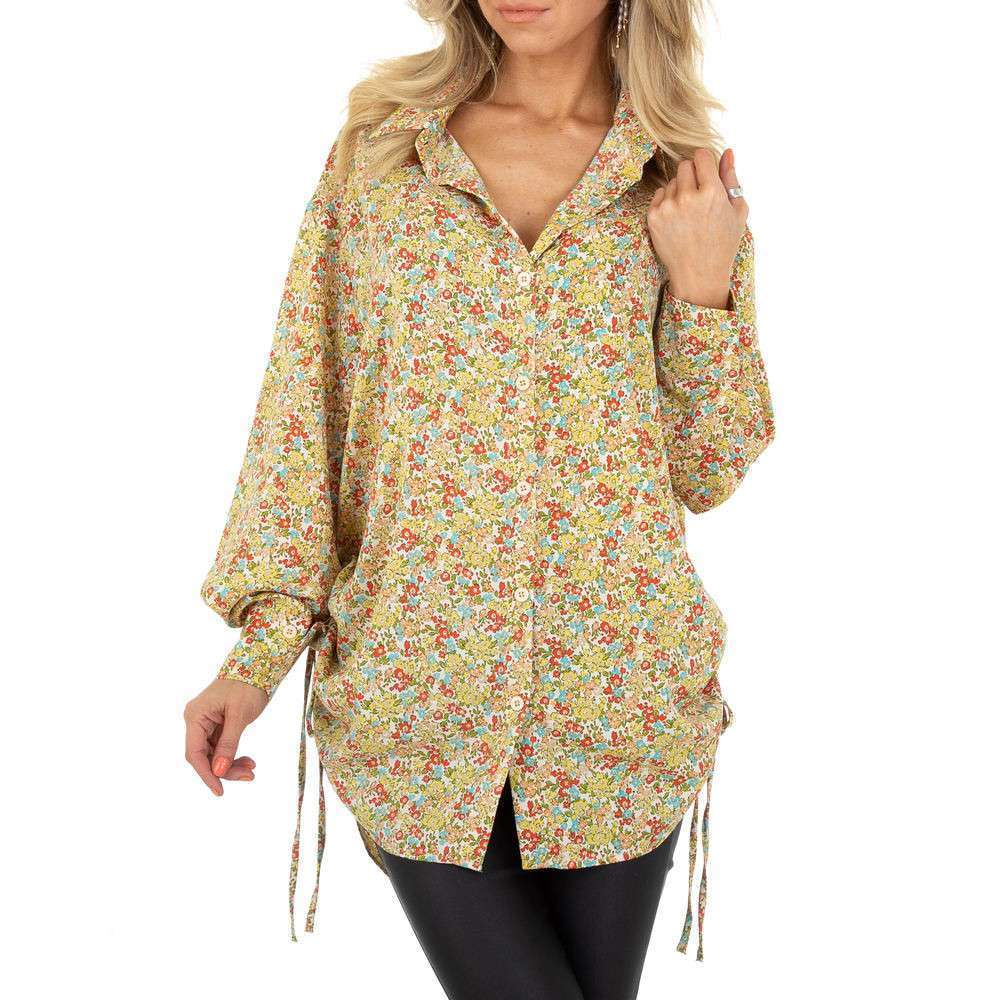 Bluză lungă pentru femei de SHK Paris - galbenă