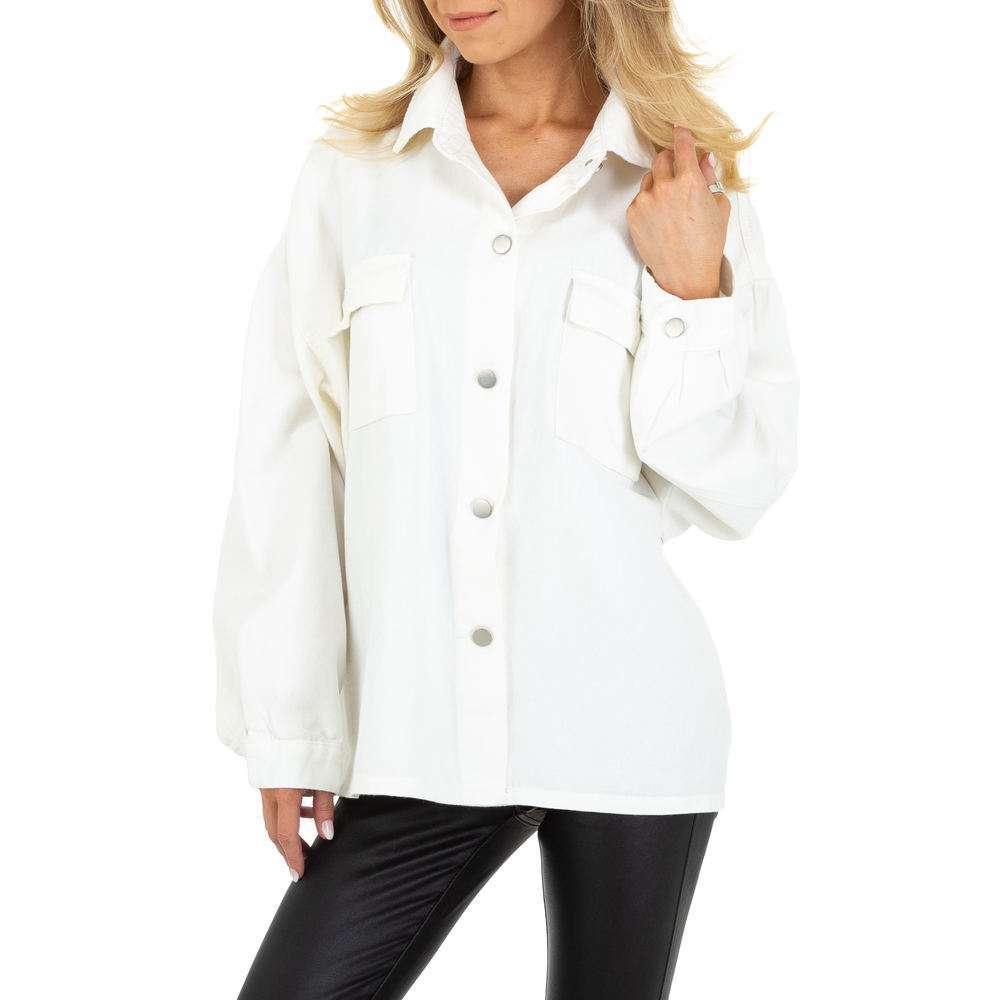 Bluză de cămașă pentru femei by JCL - albă