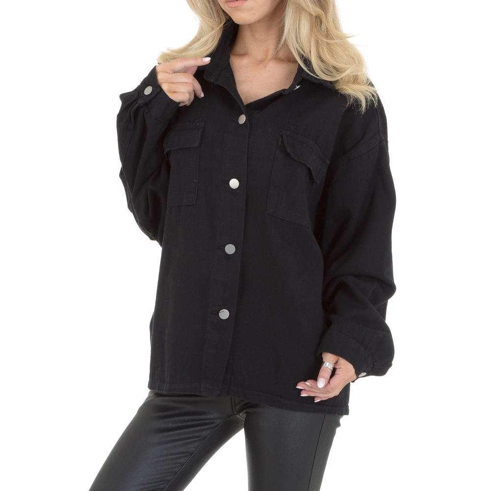 Bluză de cămașă pentru femei by JCL - neagră