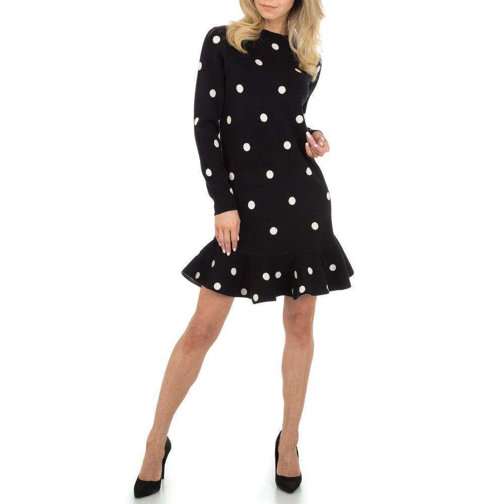 Rochie tricotată pentru femei marca JCL - neagră