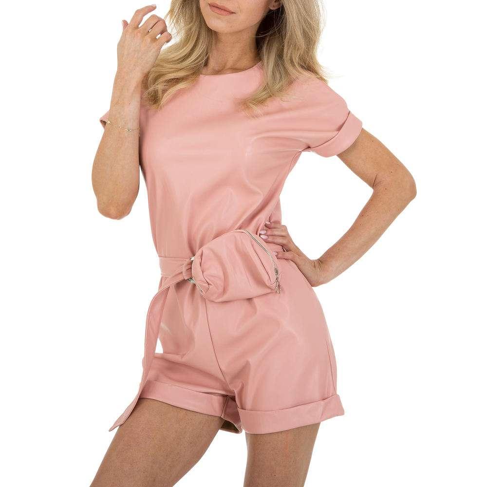 Salopetă scurtă pentru femei marca Emmash - roz