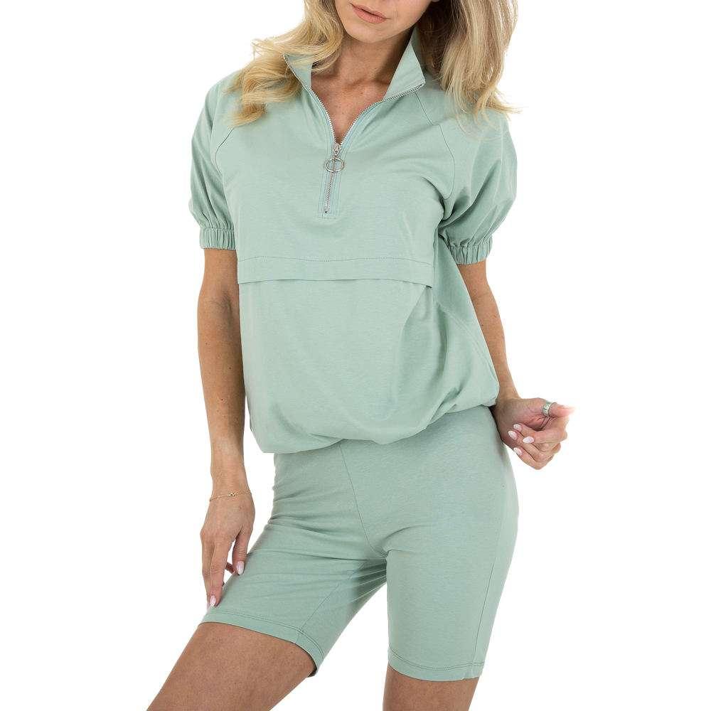Costum de jogging și agrement pentru femei marca Emmash - verde armată