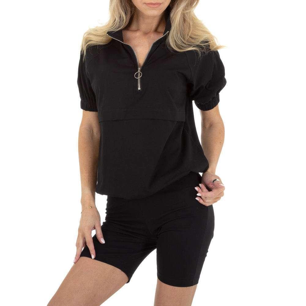 Costum de jogging și agrement pentru femei marca Emmash - neagră
