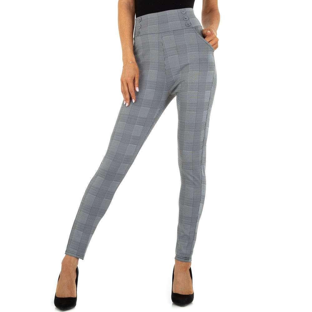 Pantaloni din stofă pentru femei marca Holala - gri