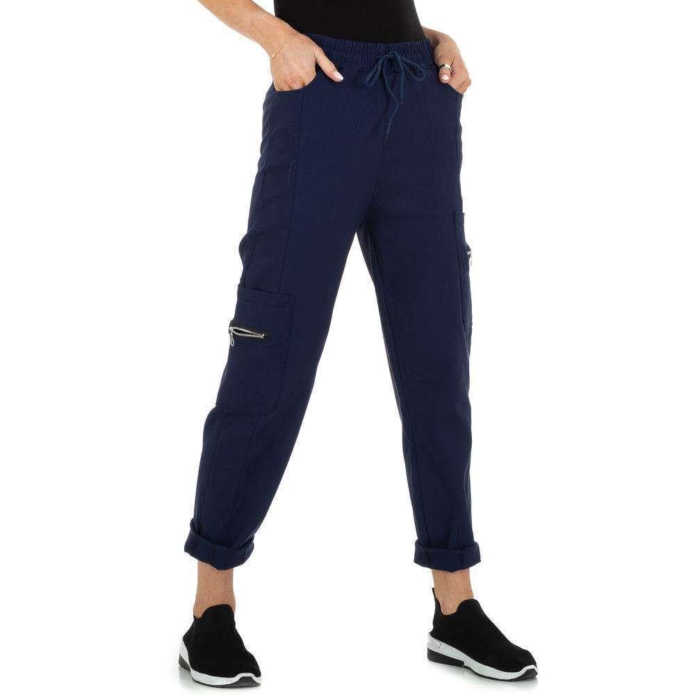 Pantaloni din stofă pentru femei marca Holala - albastră