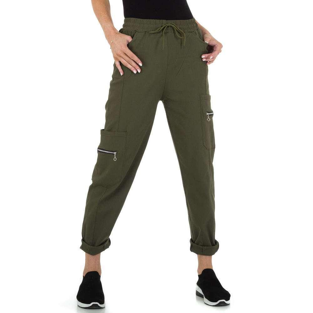 Pantaloni din stofă pentru femei marca Holala - khaki