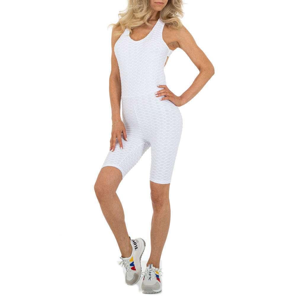 Salopetă scurtă pentru femei marca Holala - albă