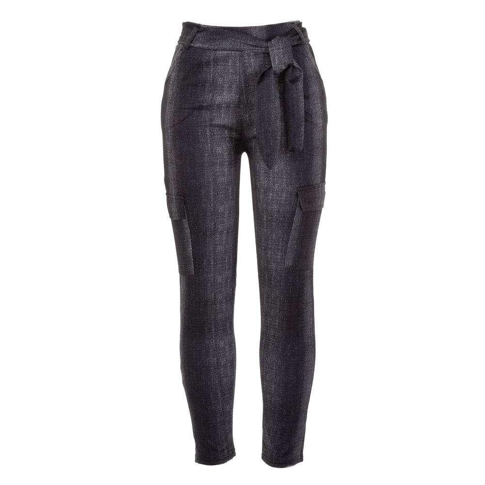 Jambiere cu aspect de Jeans pentru femei marca  - neagră