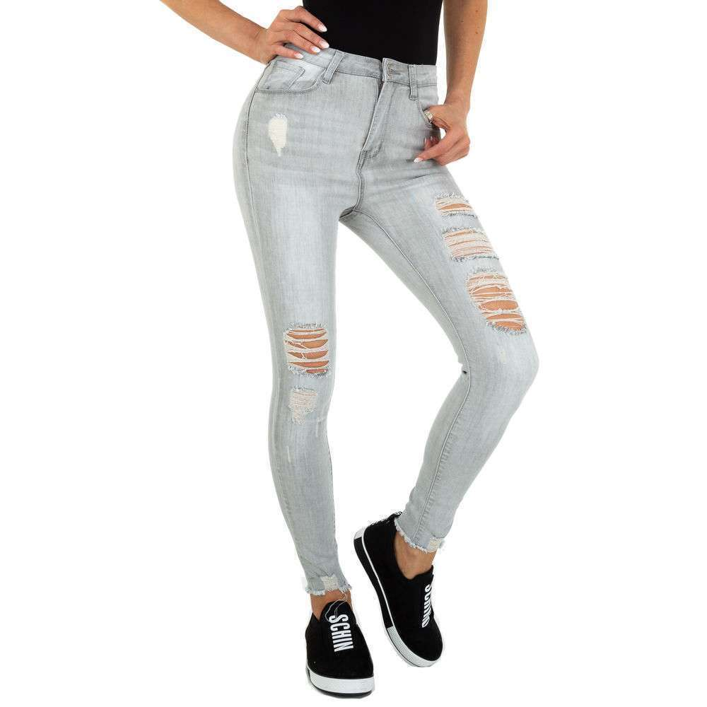 Blugi Skinny pentru femei marca Daysie Jeans - gri deschis