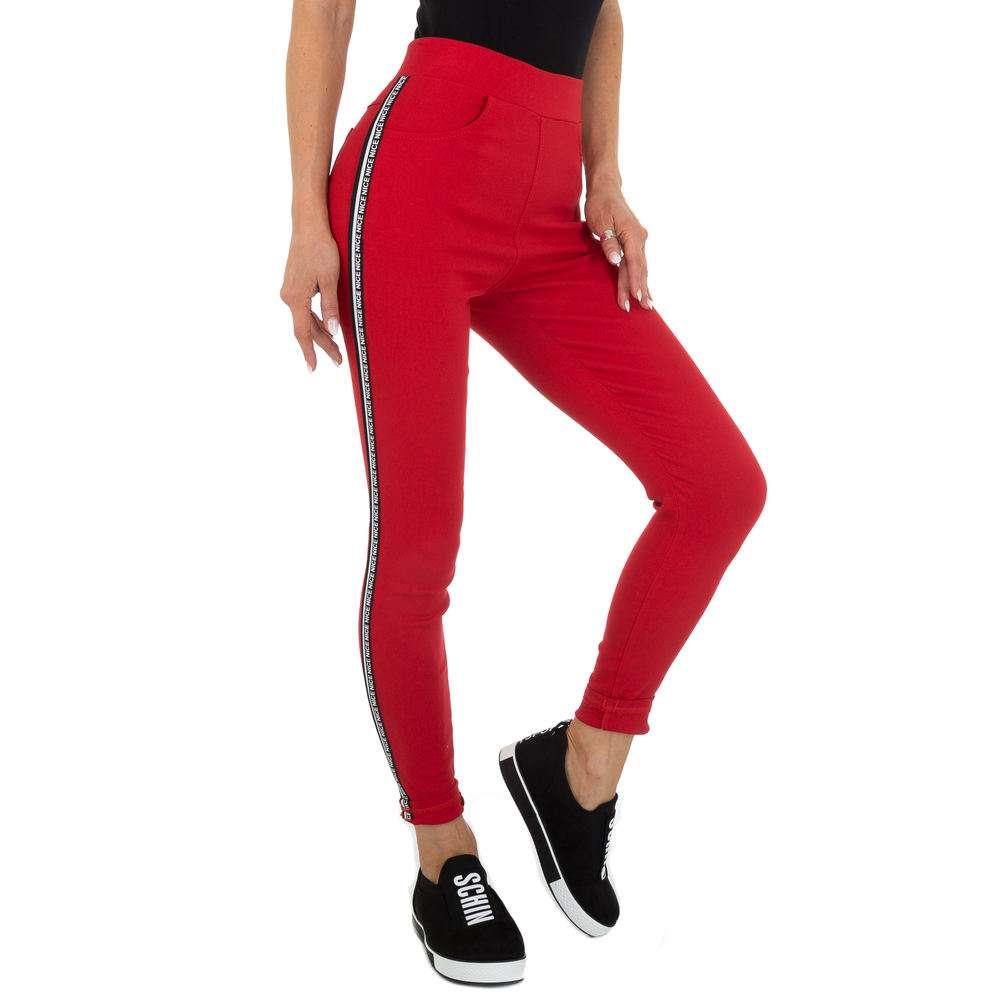 Pantaloni Casual pentru femei marca Holala - roșii