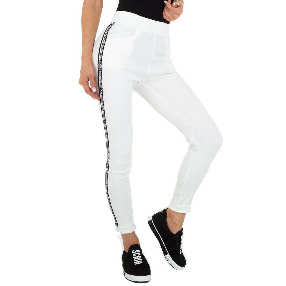 Pantaloni Casual pentru femei marca Holala - albă