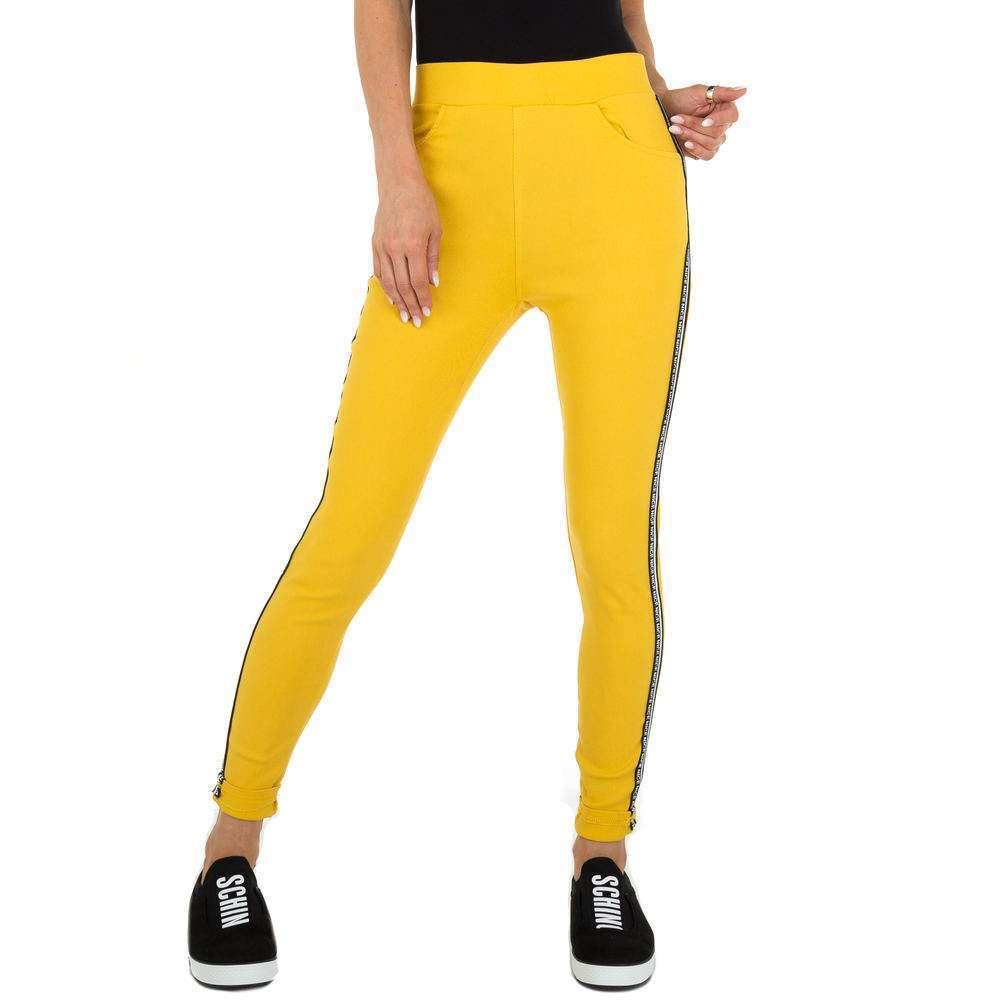 Pantaloni Casual pentru femei marca Holala - galben